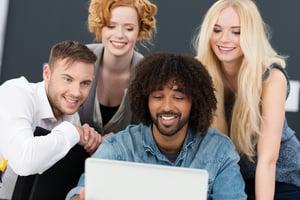 group of business people using DaaS