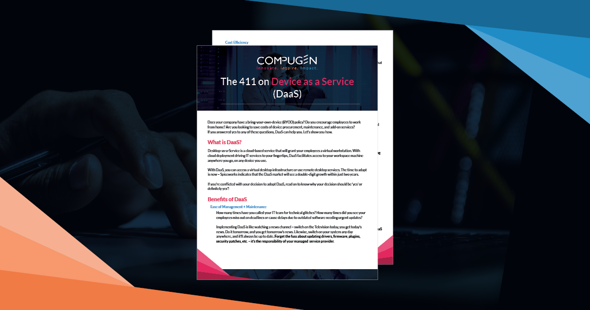 Tip Sheet: The 411 on Device as a Service (DaaS)